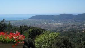 vista sul Mar Ligure / Tirreno